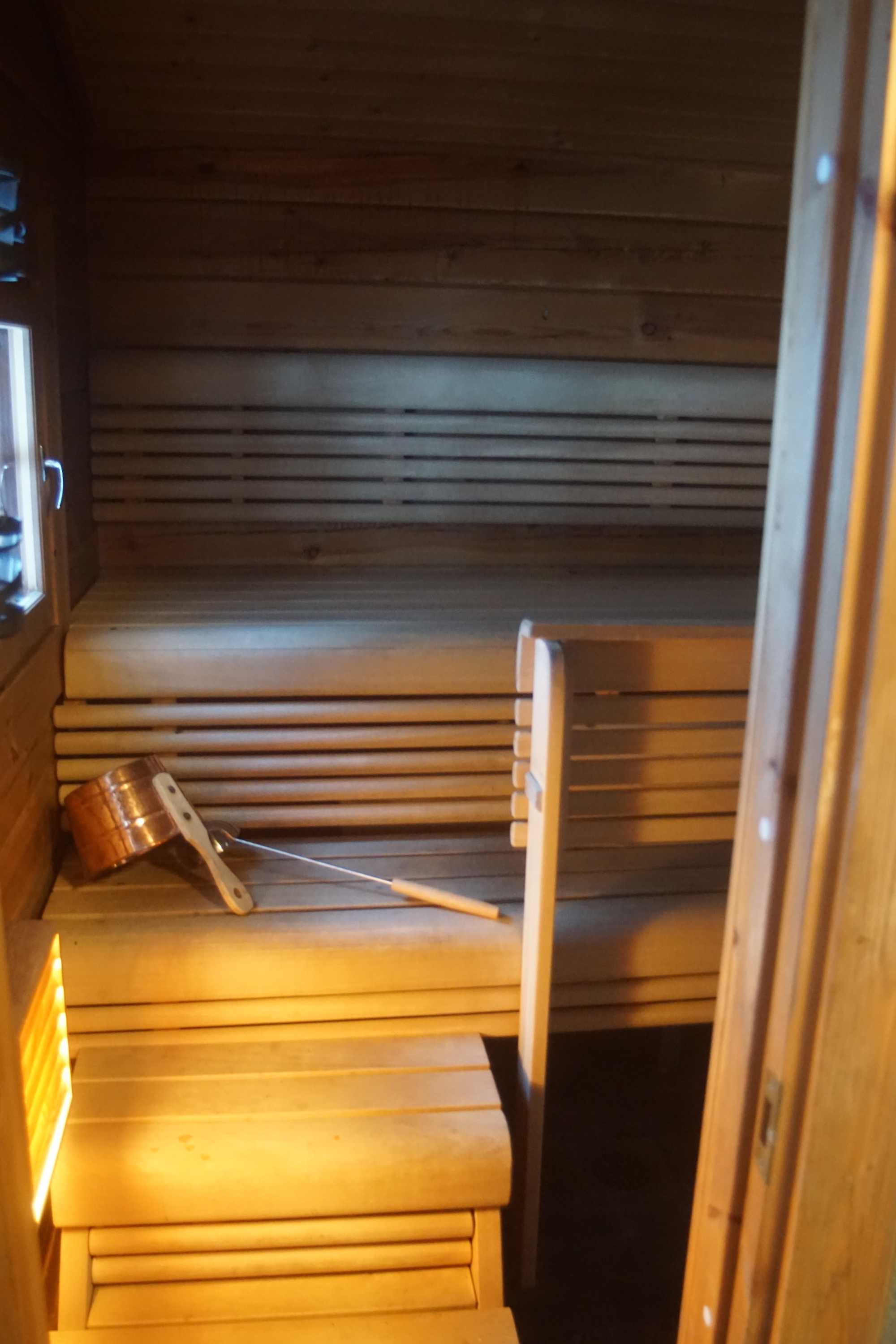 Sauna in the lakeside sauna building