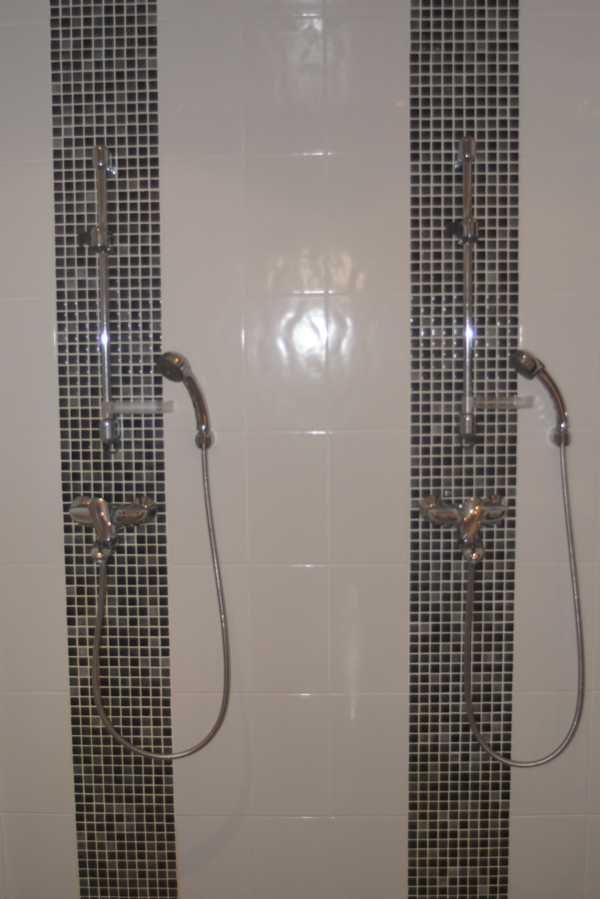 Double showers in the bathroom